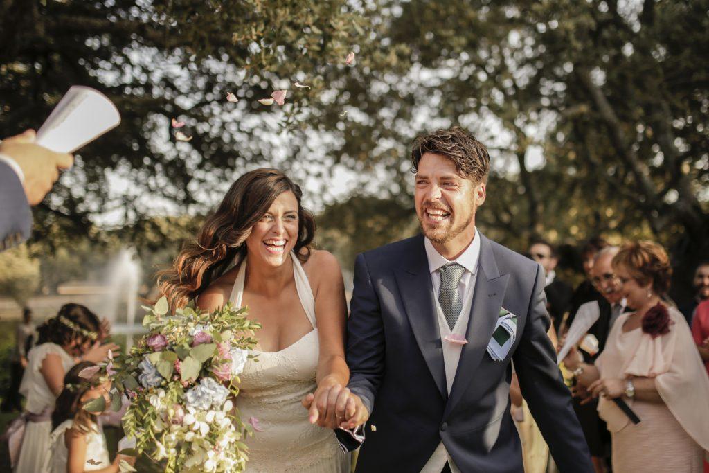 Fotografía de boda original en la naturaleza