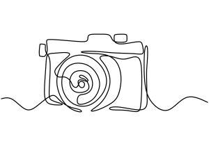 Imagen decorativa dibujo cámara
